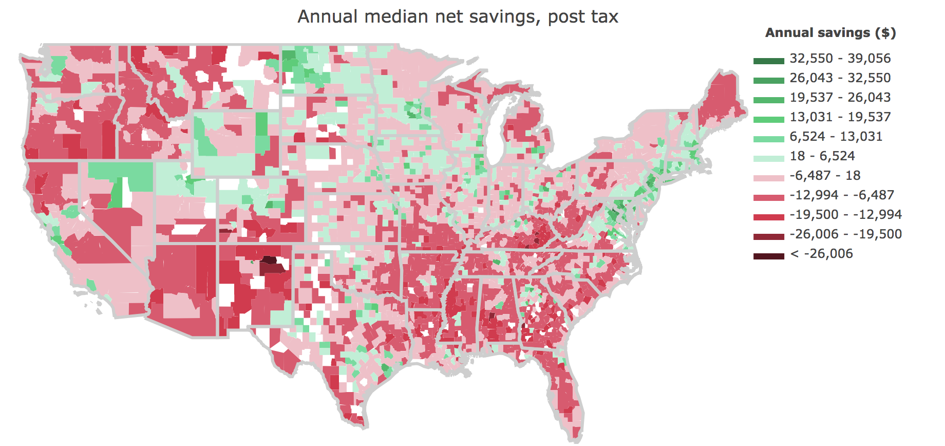 US Counties with highest savings potential | Data Interview ...